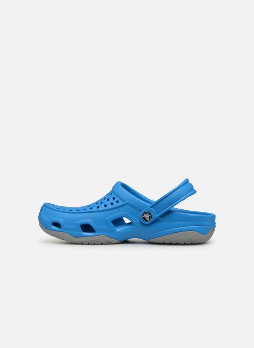 Sandales et nu-pieds Crocs Swiftwater Deck Clog M Bleu vue face