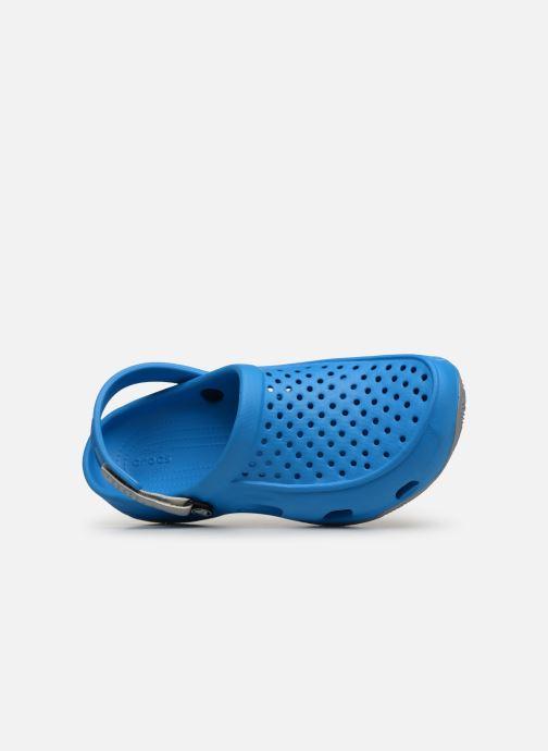 Sandales et nu-pieds Crocs Swiftwater Deck Clog M Bleu vue gauche