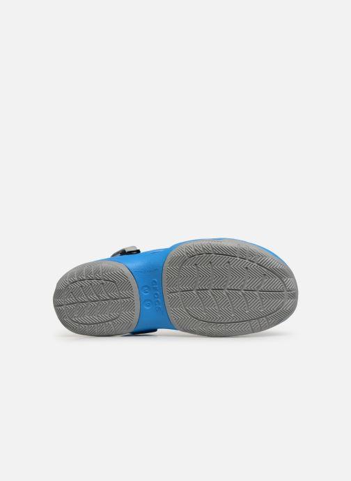 Sandales et nu-pieds Crocs Swiftwater Deck Clog M Bleu vue haut