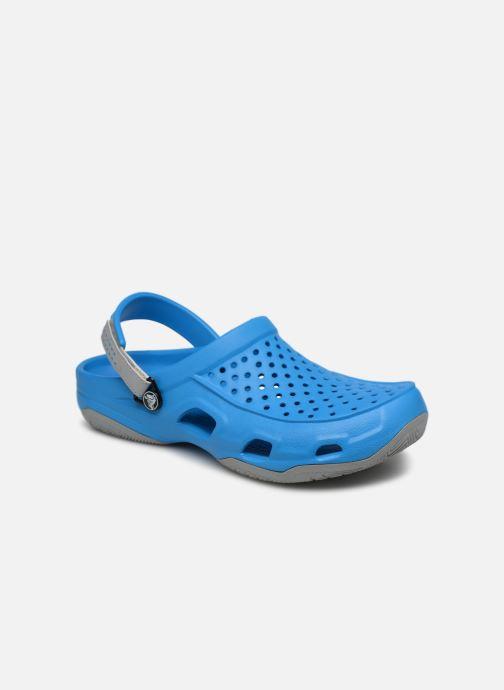Sandales et nu-pieds Crocs Swiftwater Deck Clog M Bleu vue détail/paire