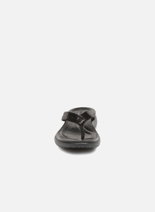 Infradito Crocs Capri V Sequin W Nero modello indossato