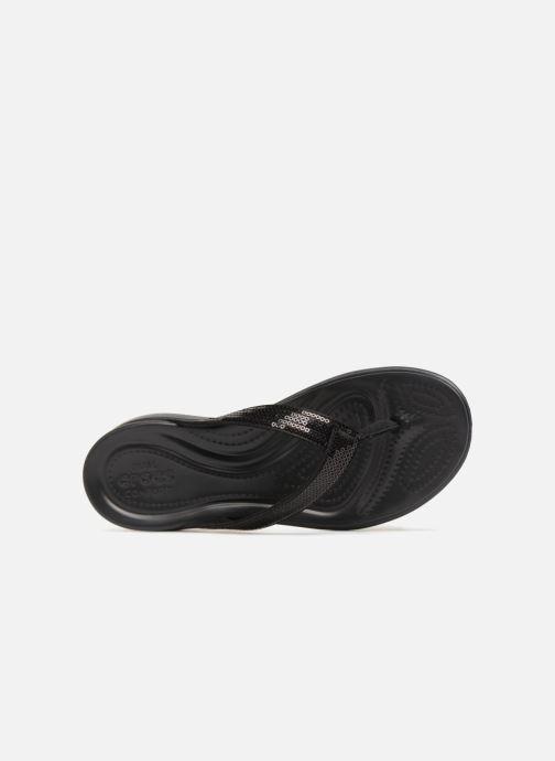 Tongs Crocs Capri V Sequin W Noir vue gauche