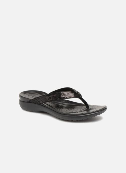 Slippers Crocs Capri V Sequin W Zwart detail