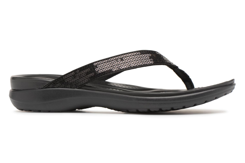 Tongs Crocs Capri V Sequin W Noir vue derrière