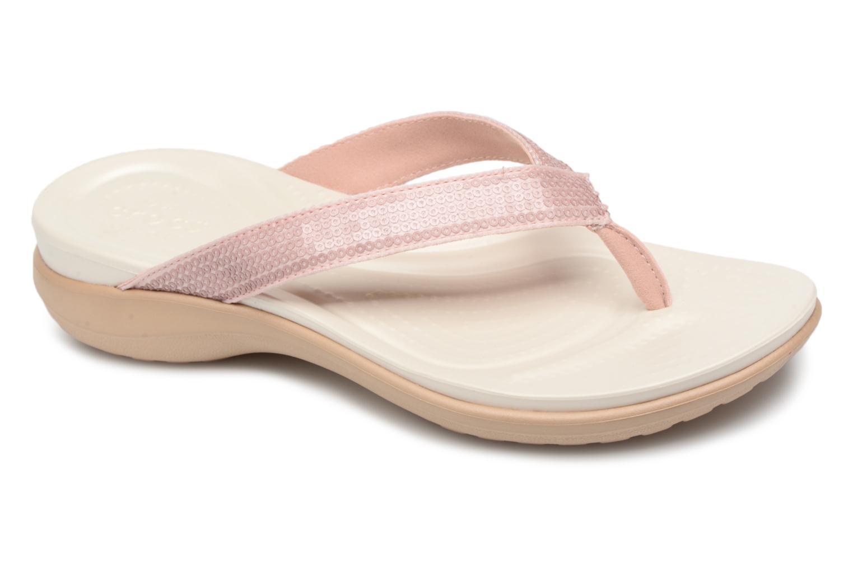 Nuevo Sequin zapatos Crocs Capri V Sequin Nuevo W (Rosa) - Chanclas en Más cómodo f49737