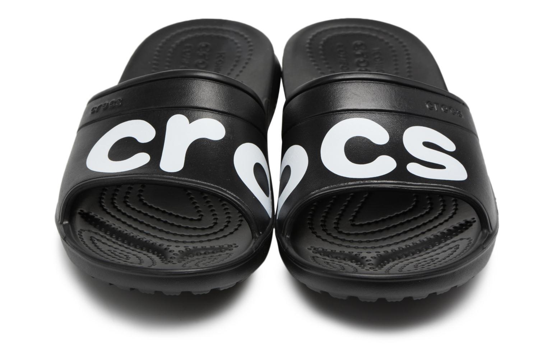 Mules & clogs Crocs Classic Graphic Slide Black 3/4 view