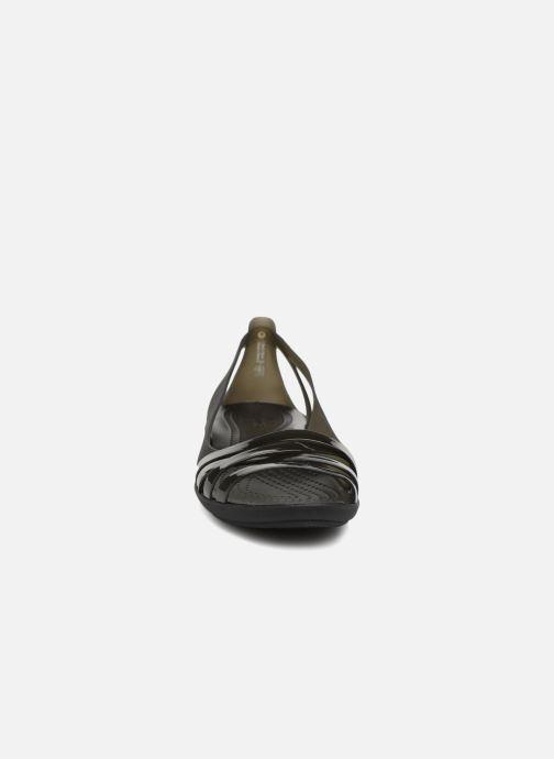 Sandali e scarpe aperte Crocs Isabella Huarache 2 Flat W Nero modello indossato