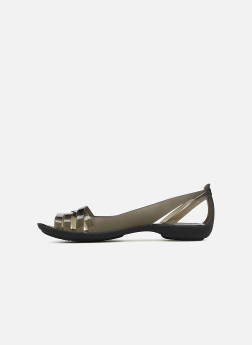 Sandali e scarpe aperte Crocs Isabella Huarache 2 Flat W Nero immagine frontale