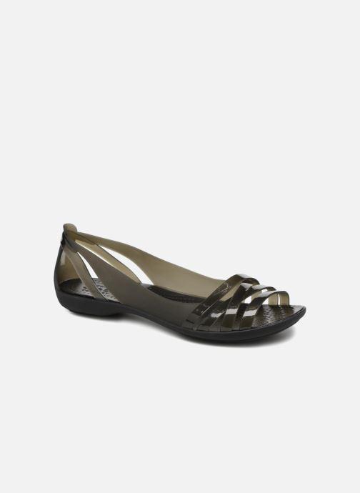 Sandalias Crocs Isabella Huarache 2 Flat W Negro vista de detalle / par