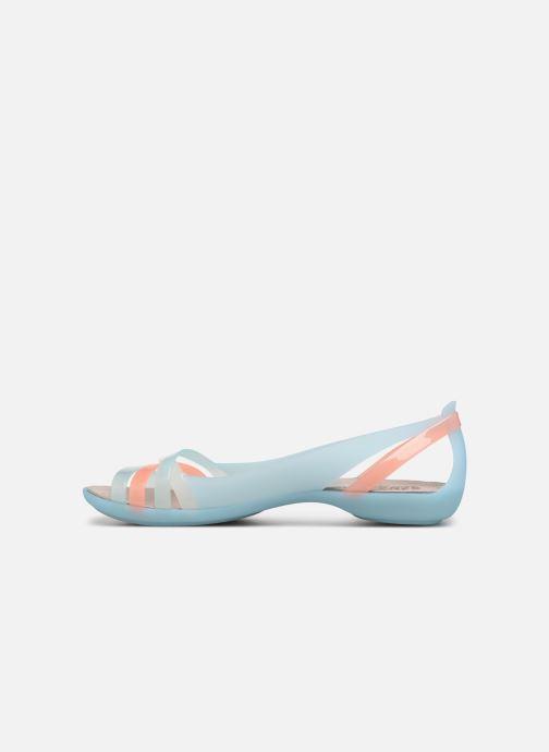 Sandales et nu-pieds Crocs Isabella Huarache 2 Flat W Bleu vue face