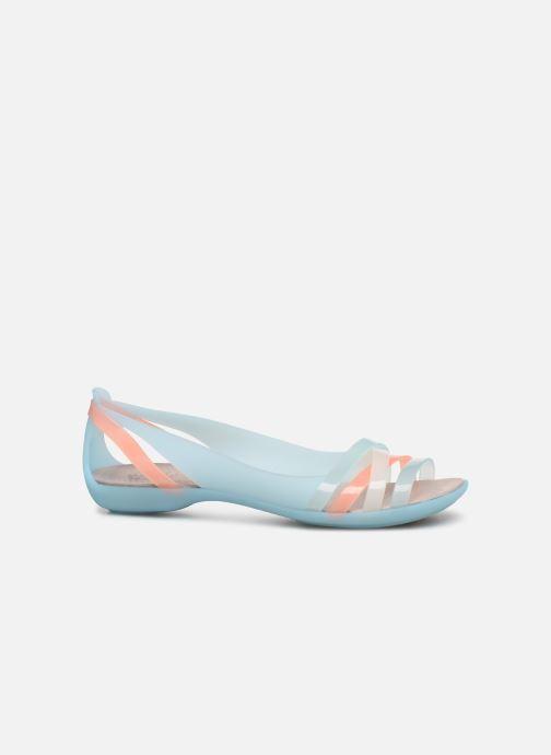 Sandalen Crocs Isabella Huarache 2 Flat W blau ansicht von hinten