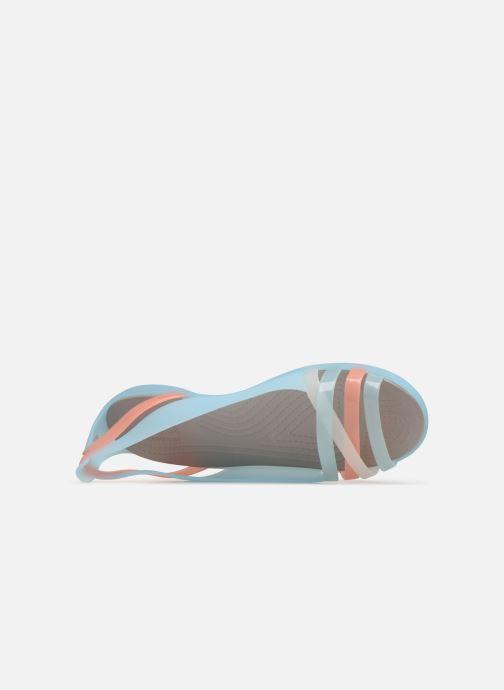 Sandales et nu-pieds Crocs Isabella Huarache 2 Flat W Bleu vue gauche