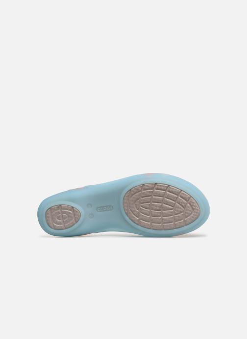 Sandales et nu-pieds Crocs Isabella Huarache 2 Flat W Bleu vue haut