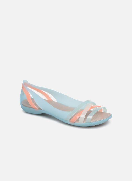 Sandales et nu-pieds Crocs Isabella Huarache 2 Flat W Bleu vue détail/paire