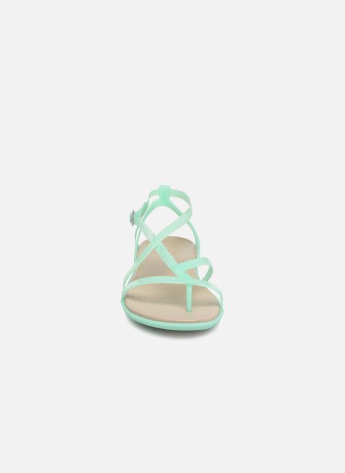 Sandalen Crocs Isabella Gladiator Sandal W grün schuhe getragen