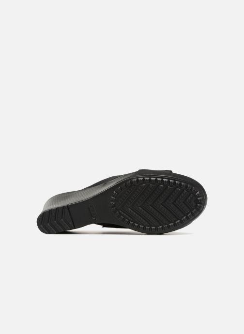 Wedges Crocs Leigh II XStrap Wedge Zwart boven