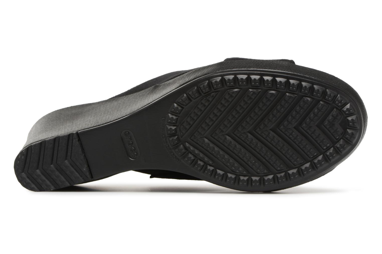 Mules et sabots Crocs Leigh II XStrap Wedge Noir vue haut