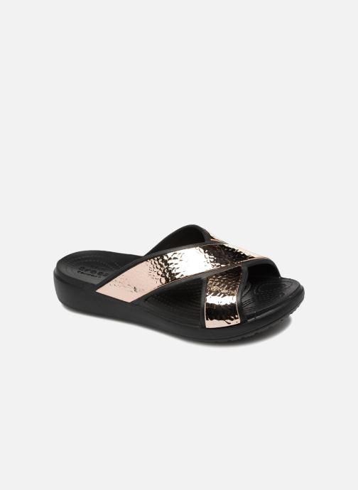 Clogs & Pantoletten Crocs Sloane Hammered Xstrp Slide W gold/bronze detaillierte ansicht/modell