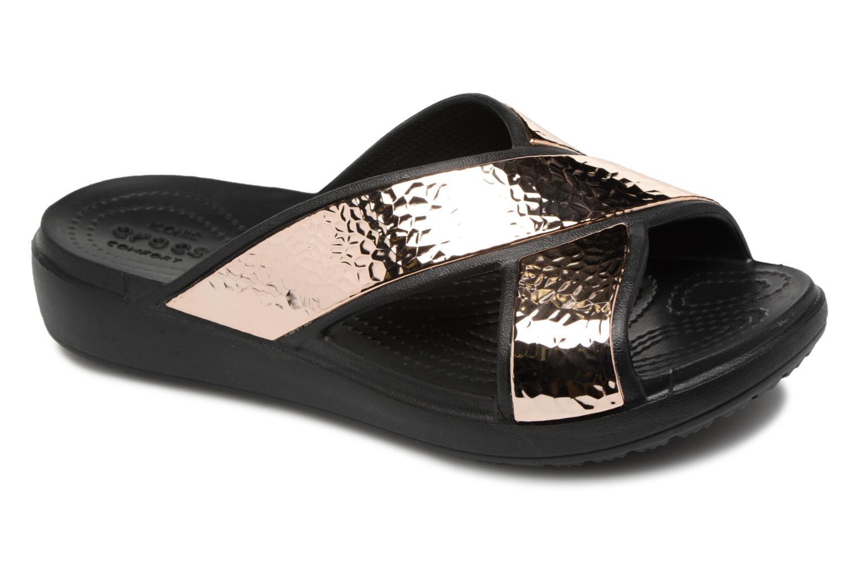 Mules et sabots Crocs Sloane Hammered Xstrp Slide W Or et bronze vue détail/paire