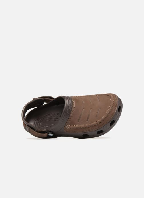 Sandali e scarpe aperte Crocs Yukon Vista Clog M Marrone immagine sinistra