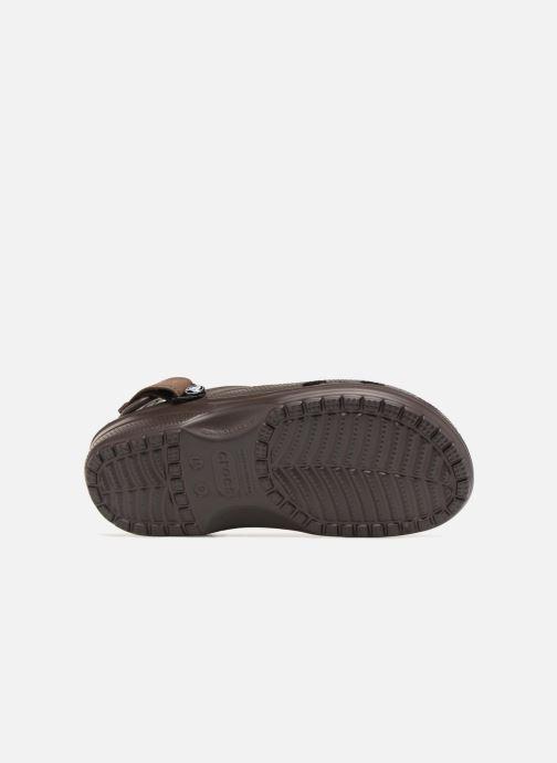 Sandali e scarpe aperte Crocs Yukon Vista Clog M Marrone immagine dall'alto