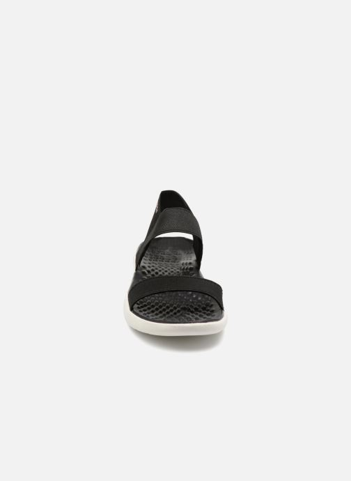 Sandalen Crocs LiteRide Sandal W schwarz schuhe getragen