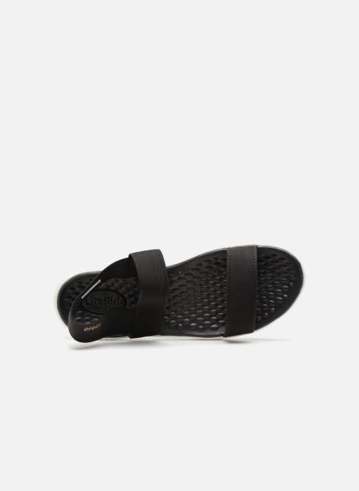 Sandalen Crocs LiteRide Sandal W schwarz ansicht von links