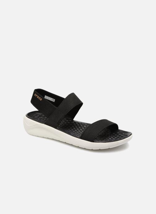 Sandalias Crocs LiteRide Sandal W Negro vista de detalle / par