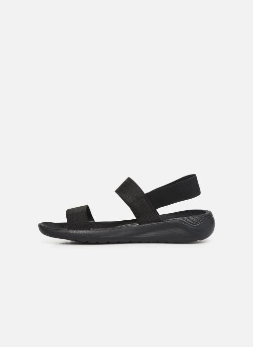 Sandalias Crocs LiteRide Sandal W Negro vista de frente