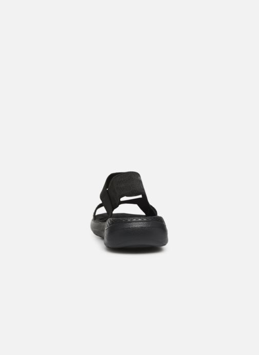Sandals Crocs LiteRide Sandal W Black view from the right