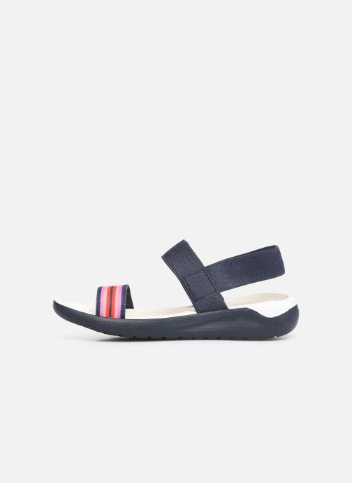 Sandales et nu-pieds Crocs LiteRide Sandal W Bleu vue face