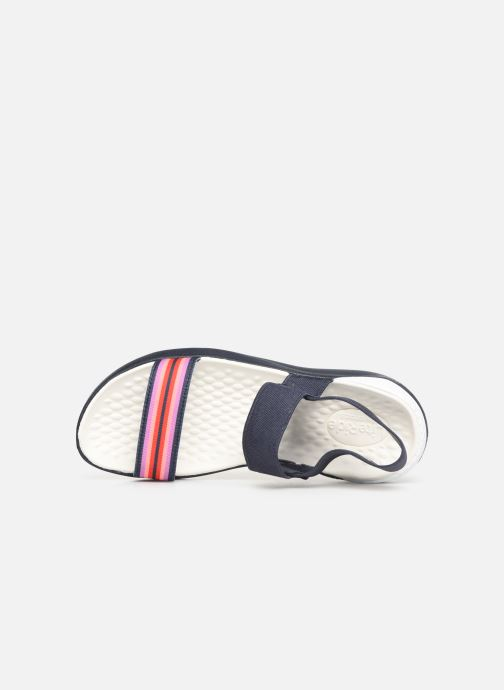 Sandalias Crocs LiteRide Sandal W Azul vista lateral izquierda