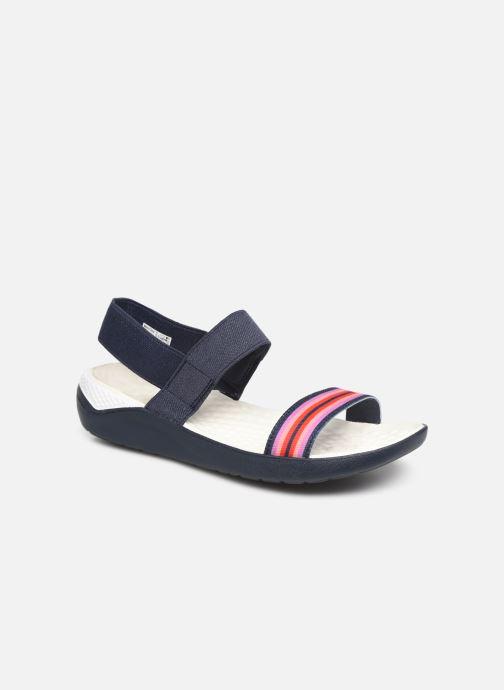 Sandaler Crocs LiteRide Sandal W Blå detaljerad bild på paret
