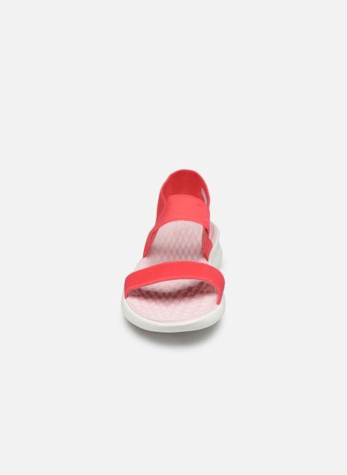 Sandalen Crocs LiteRide Sandal W orange schuhe getragen