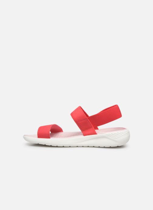 Sandales et nu-pieds Crocs LiteRide Sandal W Orange vue face