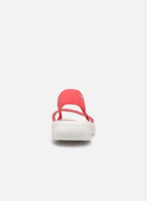 Sandales et nu-pieds Crocs LiteRide Sandal W Orange vue droite