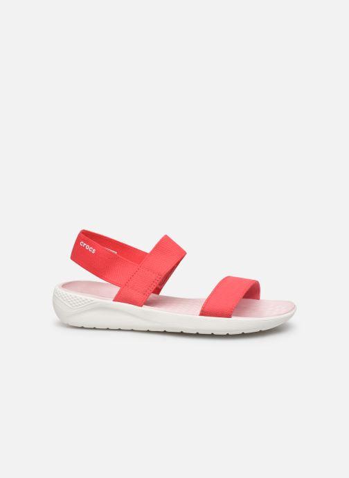 Sandales et nu-pieds Crocs LiteRide Sandal W Orange vue derrière