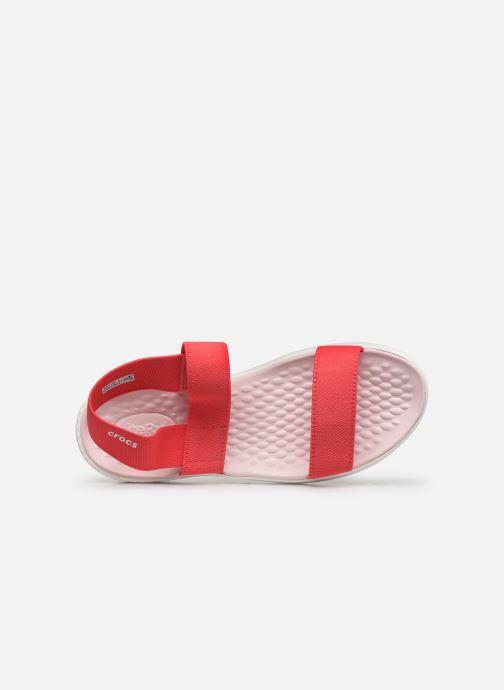 Sandalias Crocs LiteRide Sandal W Naranja vista lateral izquierda