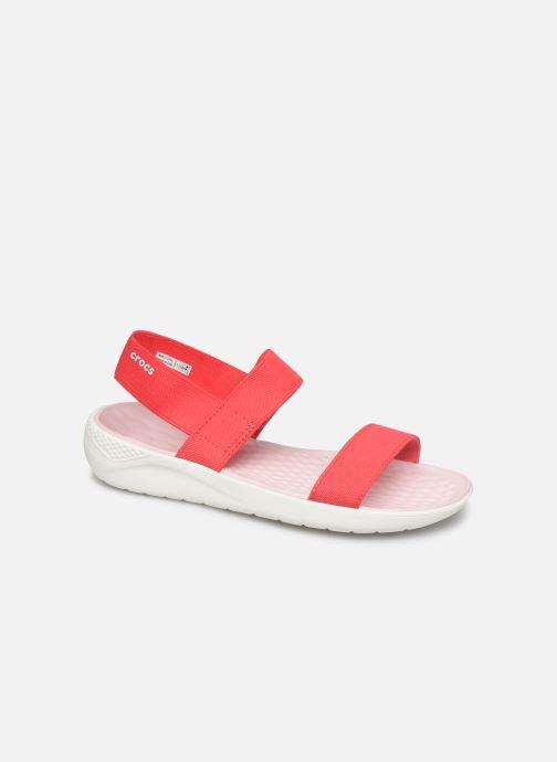 Sandales et nu-pieds Crocs LiteRide Sandal W Orange vue détail/paire