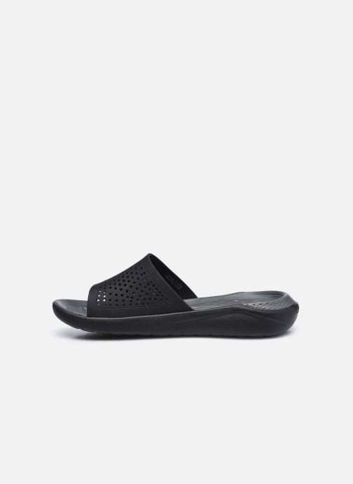Zuecos Crocs LiteRide Slide W Negro vista de frente