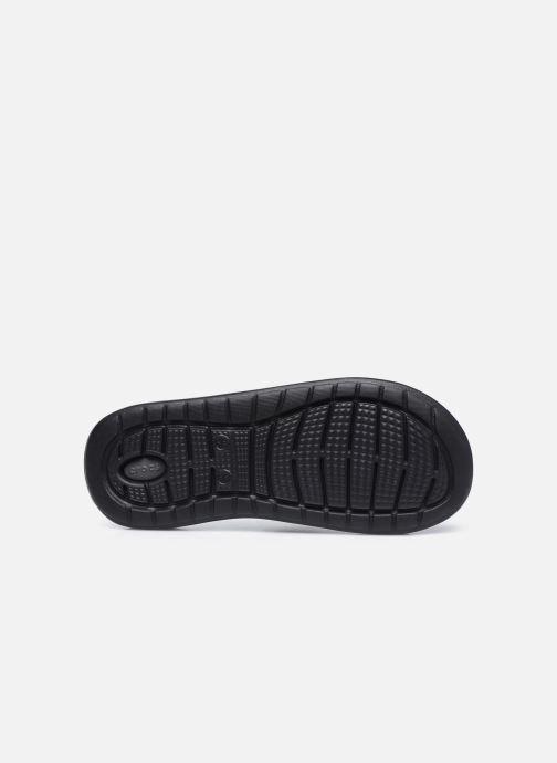 Zuecos Crocs LiteRide Slide W Negro vista de arriba