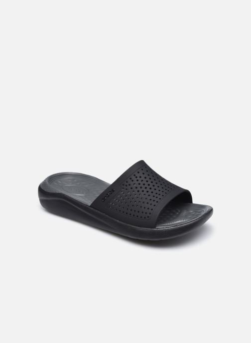 Zuecos Crocs LiteRide Slide W Negro vista de detalle / par
