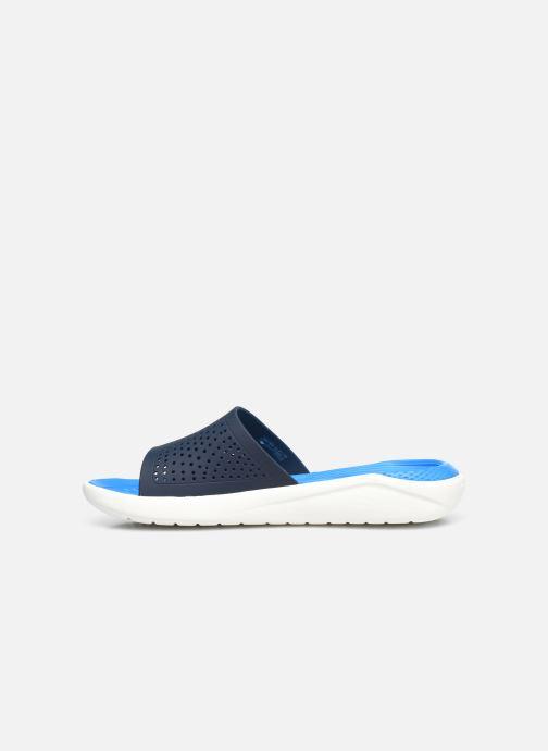 Mules et sabots Crocs LiteRide Slide W Bleu vue face