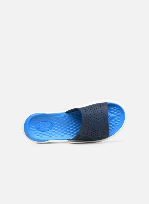 Mules et sabots Crocs LiteRide Slide W Bleu vue gauche