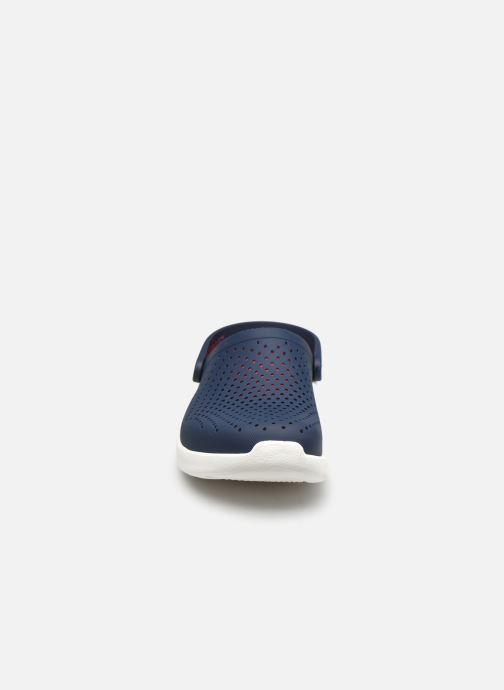 Zuecos Crocs LiteRide Clog W Azul vista del modelo
