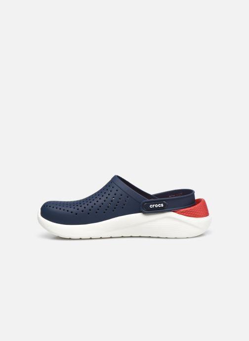 Zuecos Crocs LiteRide Clog W Azul vista de frente