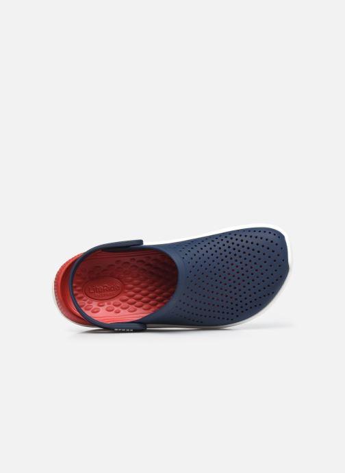 Zuecos Crocs LiteRide Clog W Azul vista lateral izquierda