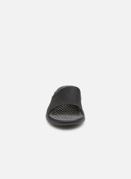 Sandalen Crocs LiteRide Slide M grau schuhe getragen