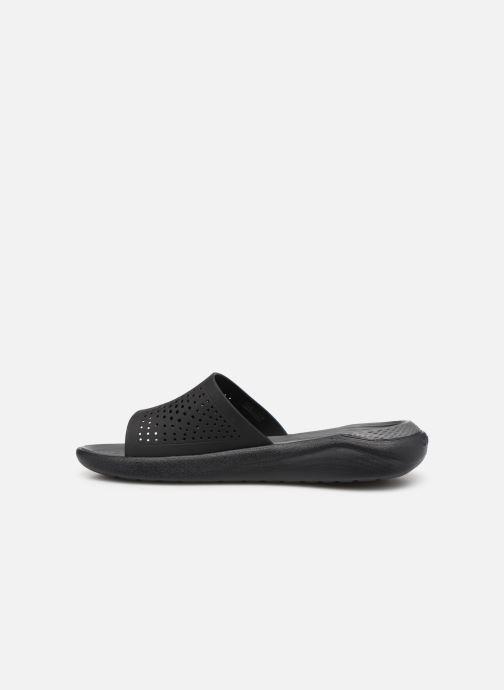 Sandalias Crocs LiteRide Slide M Gris vista de frente