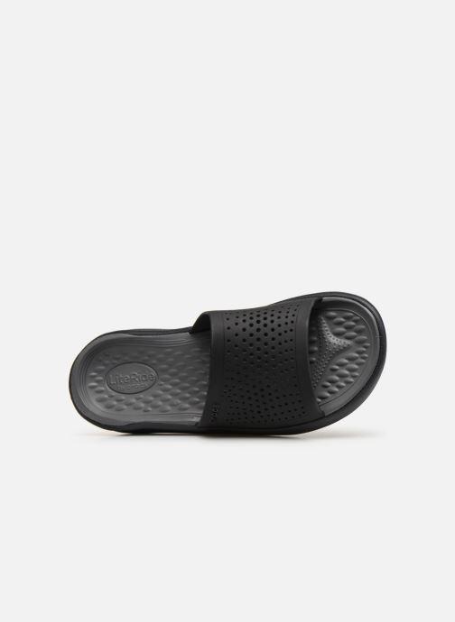 Sandalias Crocs LiteRide Slide M Gris vista lateral izquierda